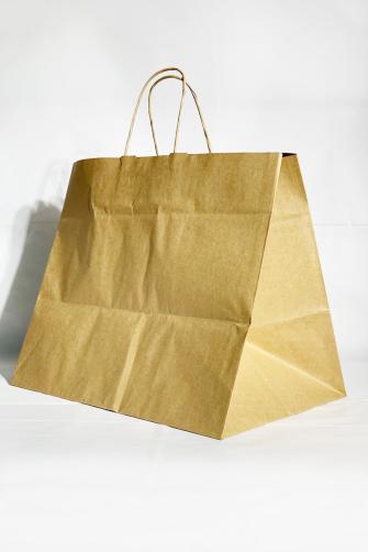 38x25x32.5 Baskılı Kraft Kağıt Çanta
