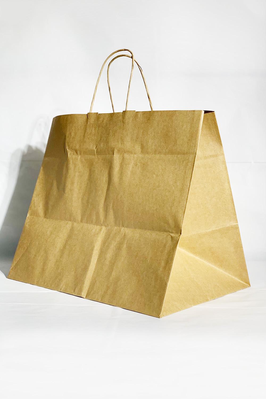 38x25x32.5 Baskısız Kraft Kağıt Çanta