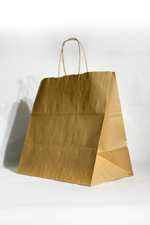 27x15.5x29.5 Baskısız Kraft Kağıt Çanta
